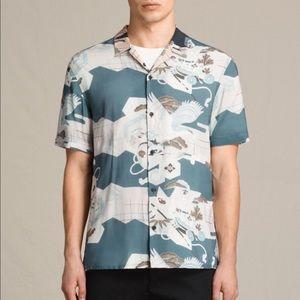 All Saints Kahana Short Sleeve Button Down Shirt